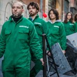 Greenpeace in azione a Roma