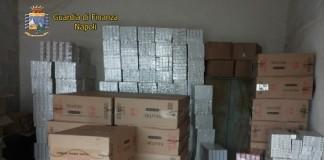 Napoli, sequestrate oltre 4 tonnellate di sigarette di contrabbando