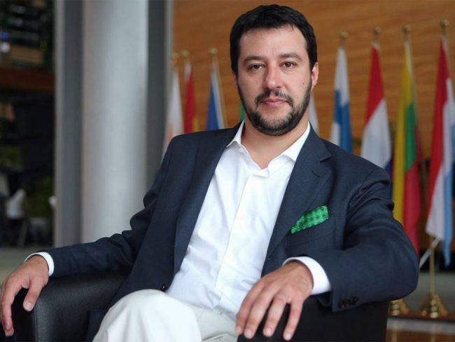 Matteo Salvini a Palazzo Chigi dal premier Draghi