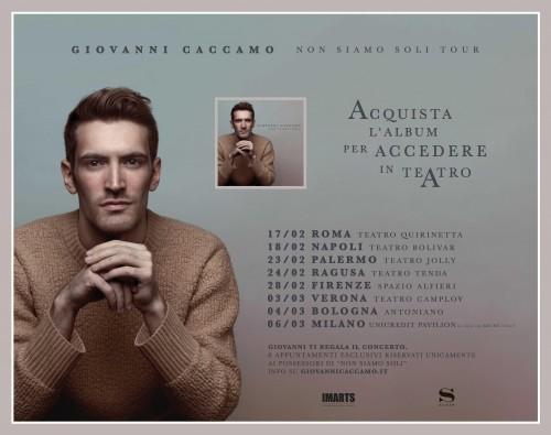 Giovanni Caccamo anteprima tour