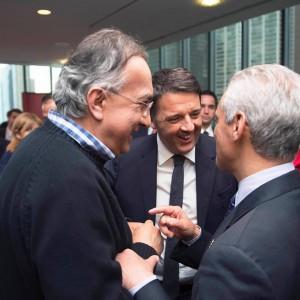 Renzi con Marchionne e sindaco Chicago