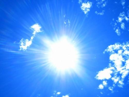 Sole caldo bel tempo meteo