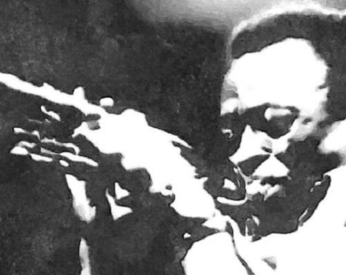Daniele Bongiovanni, NERI - ritratto Miles Davis, collezione pubblica, Roxy Bar