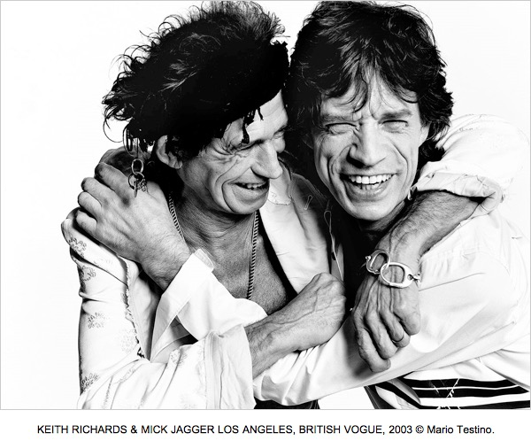 KEITH RICHARDS & MICK JAGGER LOS ANGELES, BRITISH VOGUE, 2003 © Mario Testino.