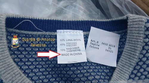 Ravenna, falso made in Italy