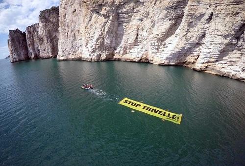 stop trivelle manifestazione a Gaeta