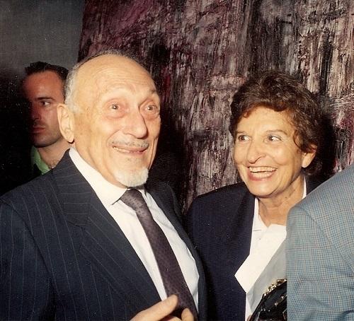 Elio Toaff ad una mostra di Eva Fischer