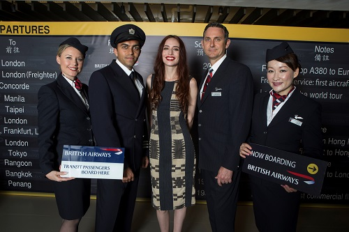 David Gandy in passerella per celebrare l'80esimo anniversario British Airways