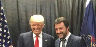 Salvini con Donald Trump