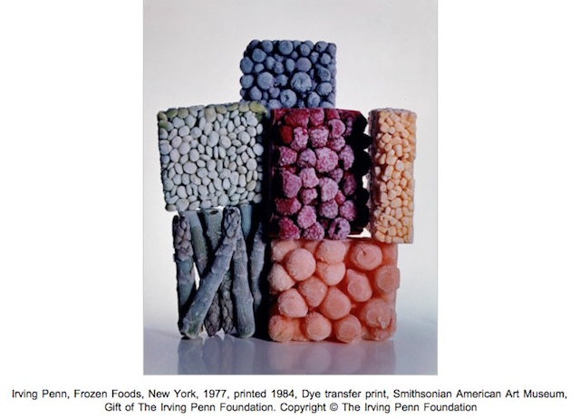 Irving Penn, Frozen Foods, New York, 1977, printed 1984, Dye transfer print
