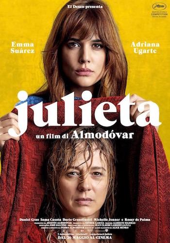 Julieta locandina film Aldomovar in Italiano