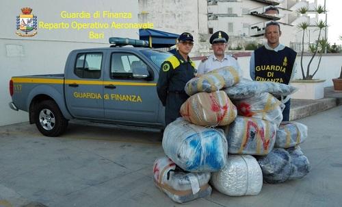 Trasportavano un quintale e mezzo di maijuana, arrestati due albanesi