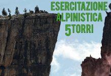 Esercitazione alpinistica 5 Torri
