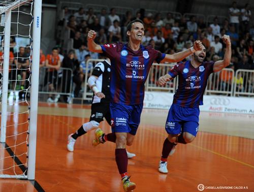 Esultanza Zanchetta (Rieti, 0-1)