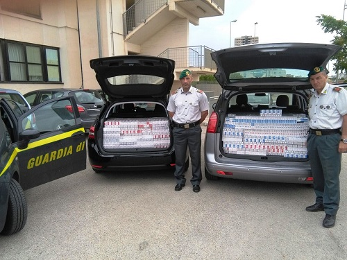 Taranto, sequestro sigarette di contrabbando