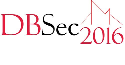 DBSec 2016