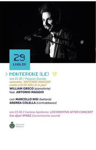 Antonio Maggio canta Lucio Dalla in jazz