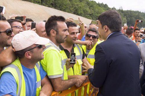 Renzi operai Salerno-Reggio Calabria