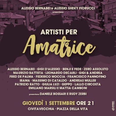 Artisti per Amatrice, concerto benefico a Civitavecchia