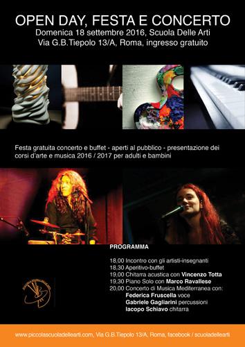 Openday festa e concerto a Roma