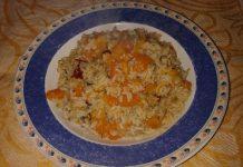 ricette autunno risotto con zucca e funghi