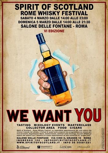 locandina Spirit of Scotland Rome Whisky Festival 2017