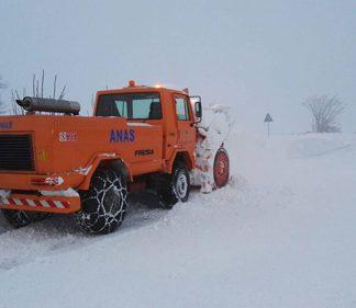 neve intervento Anas Centro Italia