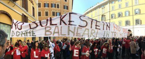 Manifestazione dei balneatori a Roma contro la legge Bolkestein