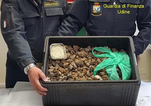 Udine sequestro tartufi