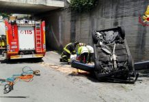 Auto precipita dalla superstrada, 62enne ferito nel vicentino