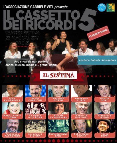 """""""Il Cassetto dei Ricordi"""": serata di beneficenza con Pannofino, Conticini e Mattioli"""