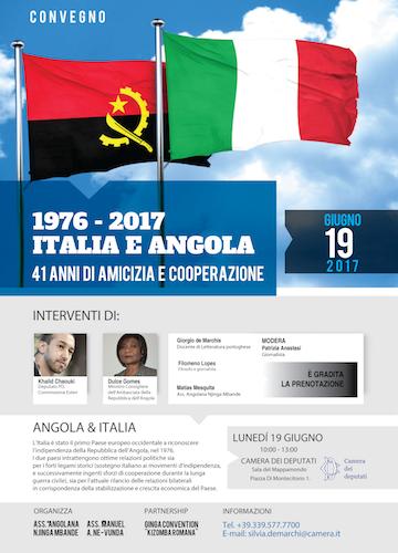 1976-2017 Italia e Angola, 41 anni di amicizia e cooperazione