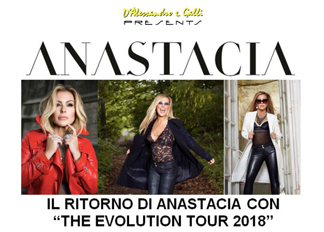"Anastacua ""The Evolution Tour 2018"": il 7 maggio a Roma"