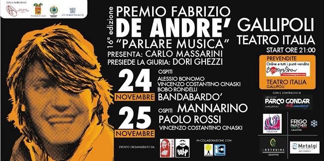 Premio Fabrizio De Andrè 2017