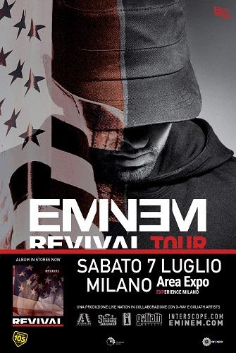 Eminem in concerto il 7 luglio 2018, Area-Expo - Experience Milano