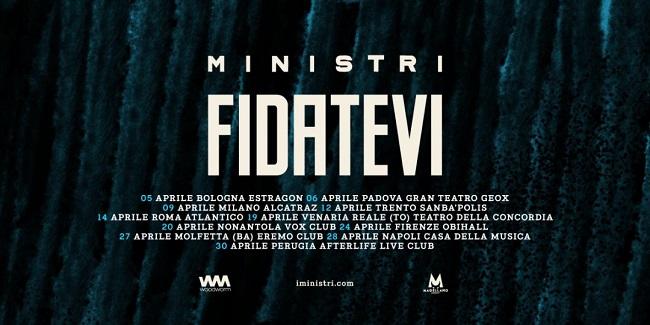 """Ministri: da oggi il singolo """"Fidatevi"""" estratto dall'omonimo album"""