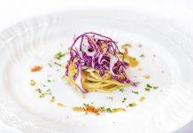 Spaghetti bio con il cavolo viola