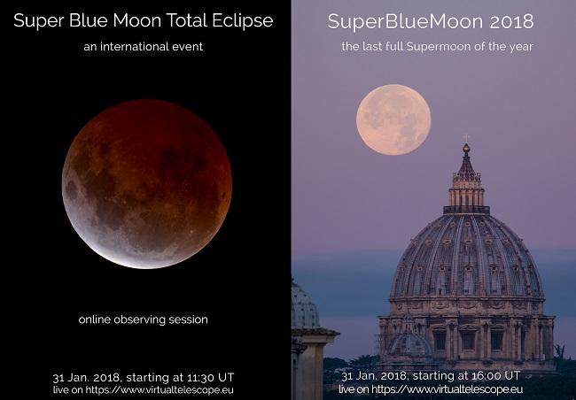 """Eclissi Totale della """"Superluna Blu"""" il 31 gennaio: dove seguirla"""