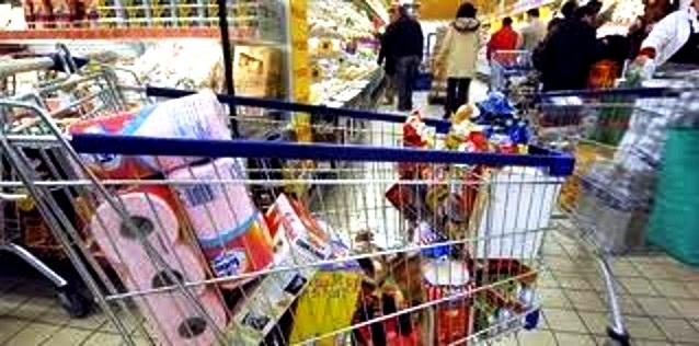 Carrello spesa supermercato
