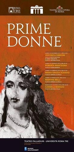 Prime Donne: 2° appuntamento il 29 gennaio al Teatro Palladium di Roma