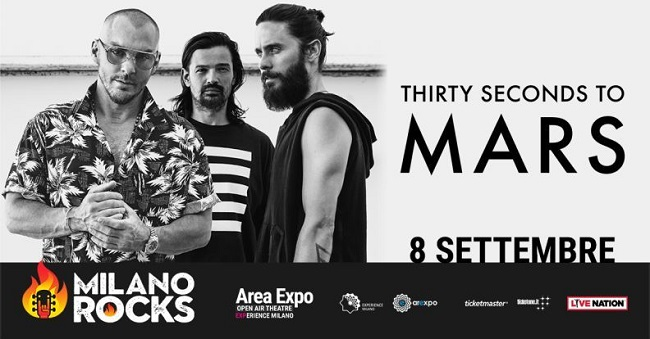 Milano Rocks: Thirty Seconds to Mars i primi headliner del Festival