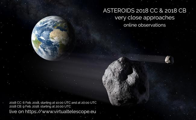 Incontro ravvicinato Asteroidi-Terra: in diretta le immagini