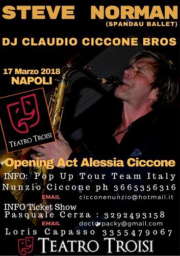 Steve Norman & Dj Claudio Ciccone Bros in concerto a Napoli