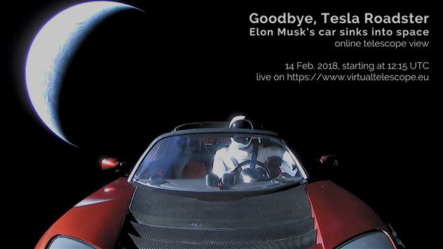 La Tesla di Elon Musk nello spazio profondo: le immagini in diretta