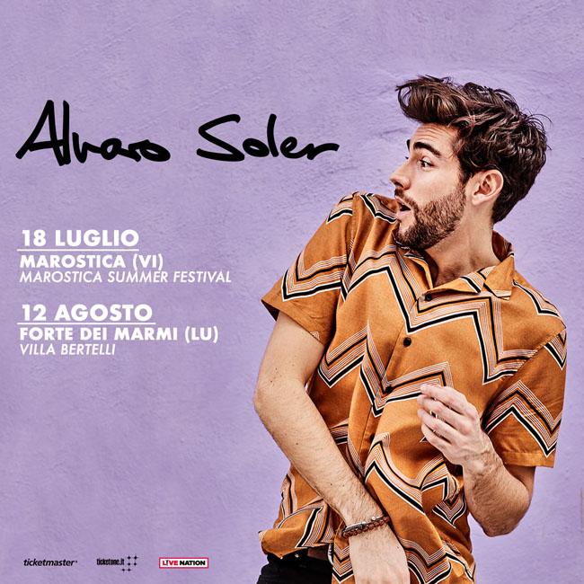 Alvaro Soler in Italia con due tappe del tour estivo 2018