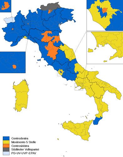 """La Geografia di """"UnItalia"""" post elezioni politiche 2018"""