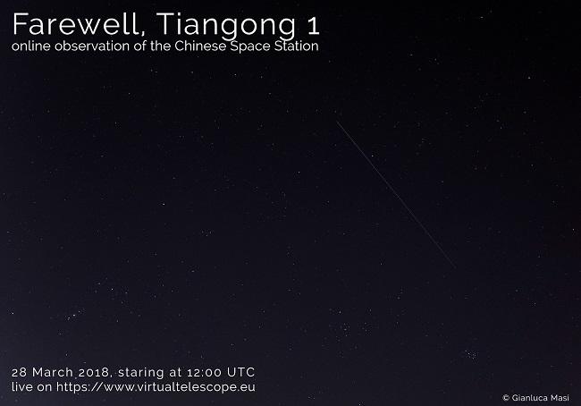 Tiangong 1, le immagini in diretta della Stazione Spaziale cinese