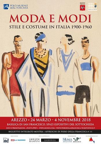 """""""Moda e Modi. Stile e costume in Italia 1900-1960"""" ad Arezzo"""