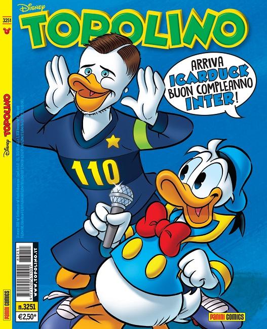110 auguri Inter, buon compleanno da Topolino