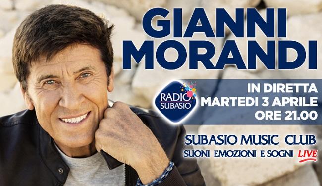 Gianni Morandi curiosita 3 aprile Radio Subasio